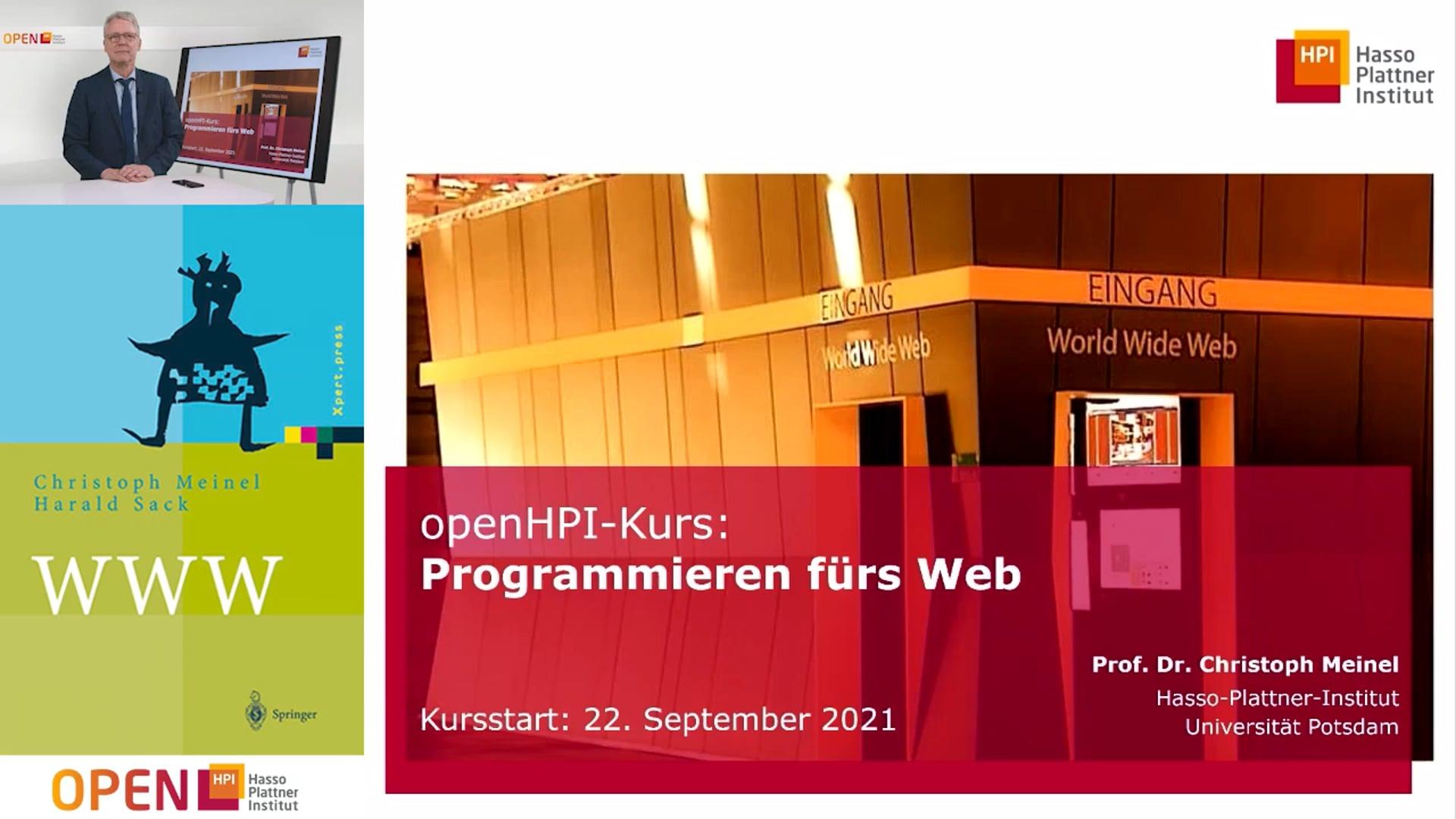"""Vorstellung Kurs """"Programmieren fürs Web"""" und Überblick"""