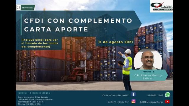 CFDI CON COMPLEMENTO CARTA PORTE 2021