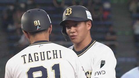 【2回表】バファローズ・ルーキーの来田が先制のタイムリーヒットを放つ!! 2021/8/14 M-B