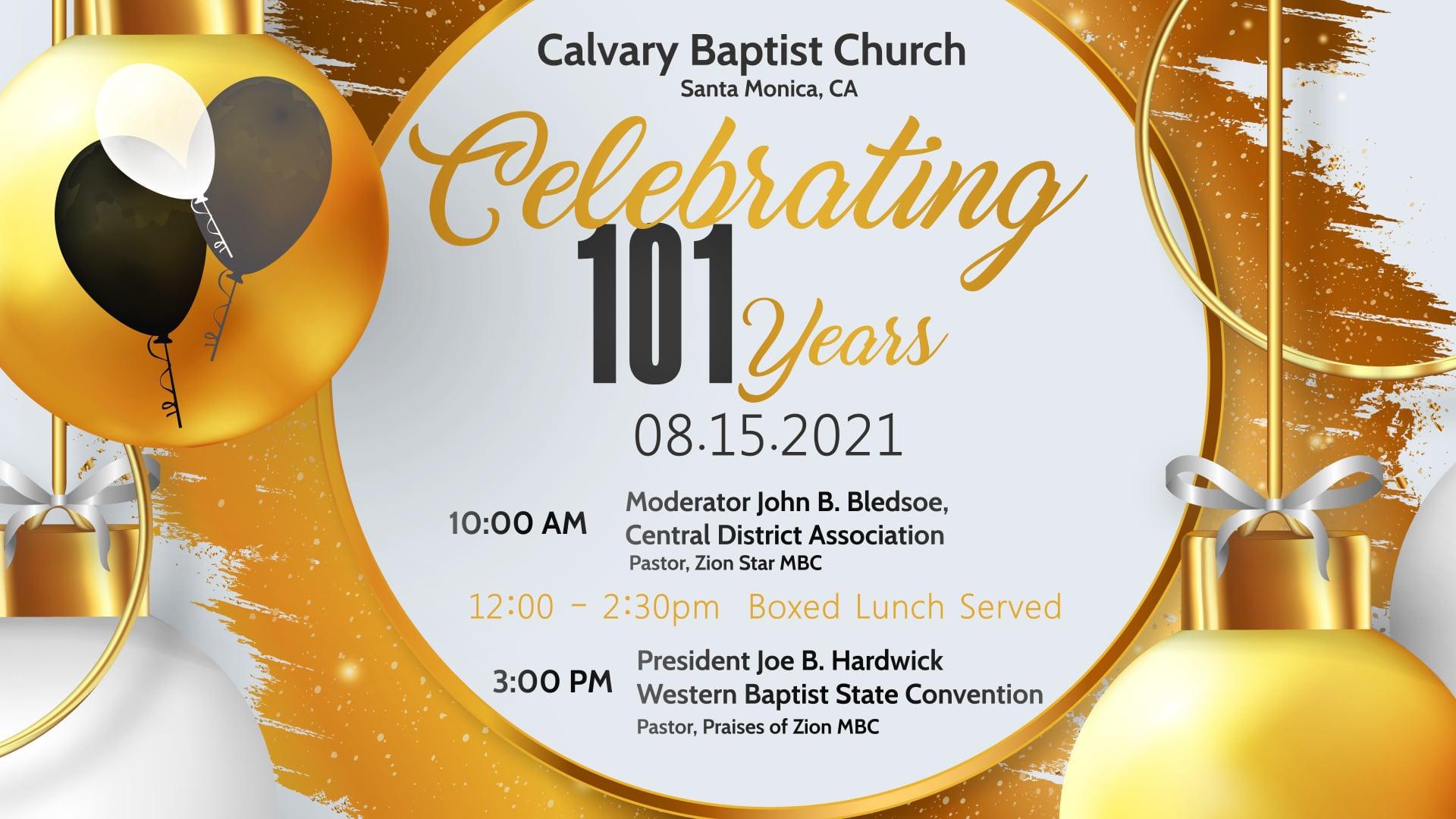 10:30AM 101st Anniversary Service 2021.08.15