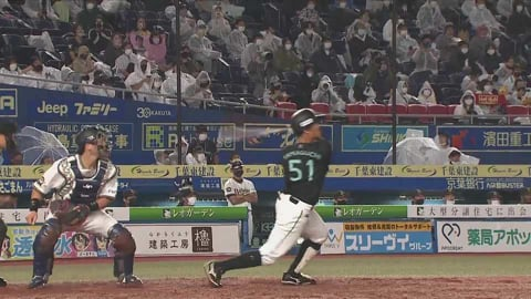 【5回裏】マリーンズ・山口 逆転の2ランホームラン!! 2021/8/15 M-B