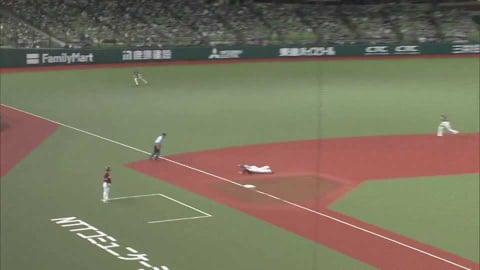 【8回表】ライオンズ・平沼 強烈な打球をダイビングキャッチのファインプレー!! 2021/8/15 L-E