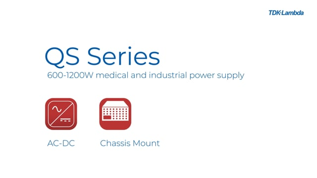 QS 600W to 1200W, Single Output Medical and Industrial Power Supply Video
