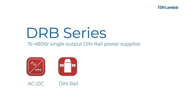 DRB 15-480W Single Output DIN Rail Power Supplies Video