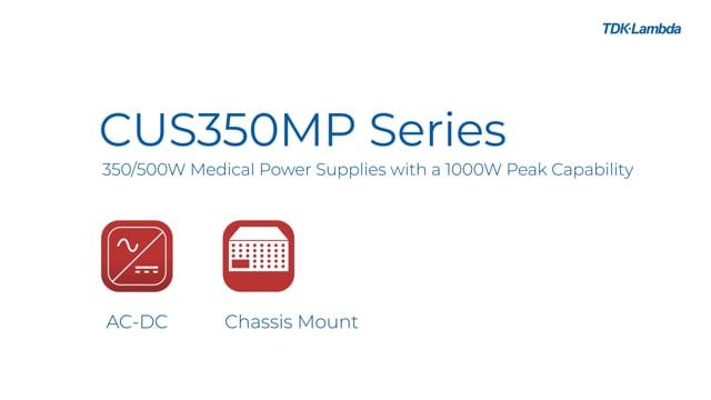 CUS350MP 350/500W Medical Power Supplies Video