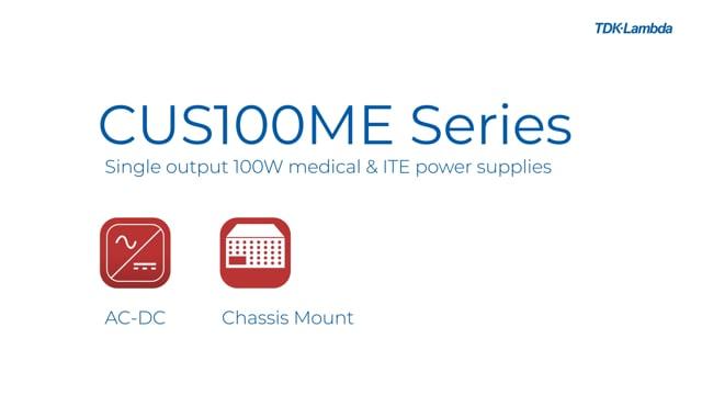 """CUS100ME 2 x 4"""" 100W AC-DC Power Supplies Video"""