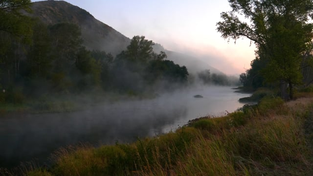 Morning Fog On The River, Southern Urals, Russia