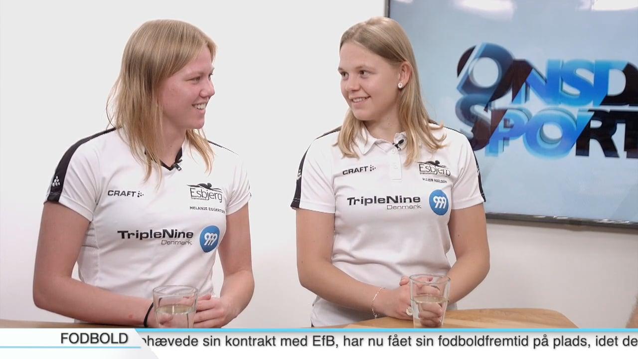 Melanie Eggertsen & Ellen Nielsen, Svømmere, Esbjerg Svømmeklub