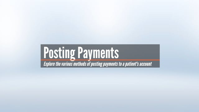 Posting Payments