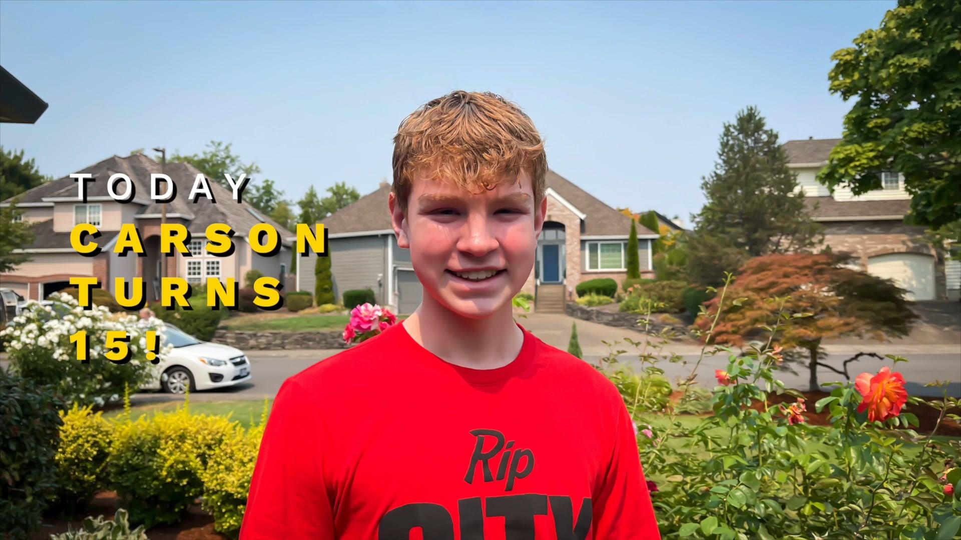 Carsons 15th Birthday