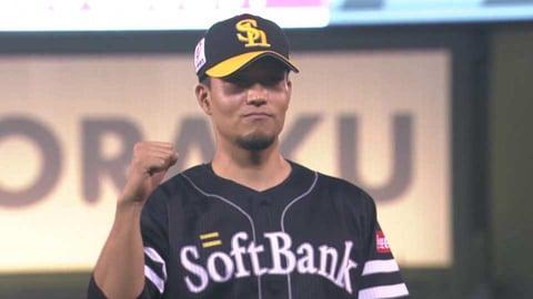 ホークス・千賀投手ヒーローインタビュー 8/18 E-H