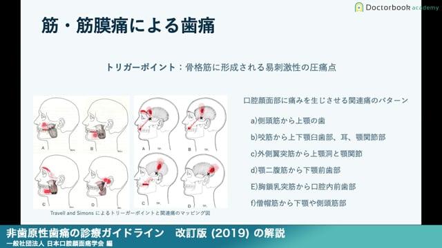 『非歯原性歯痛の診療ガイドライン 改訂版(2019)』解説 【 Part1を公開!】