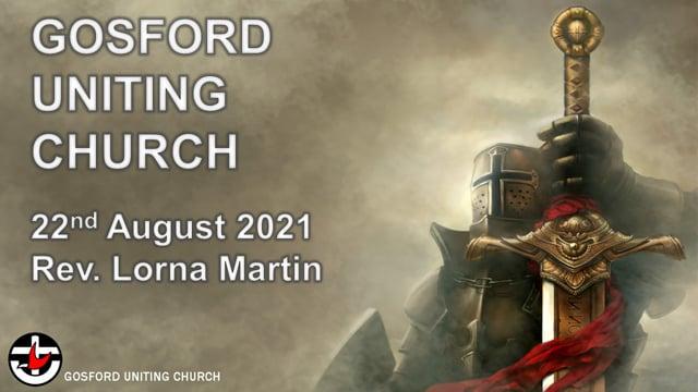 22nd August 2021 - Rev. Lorna Martin