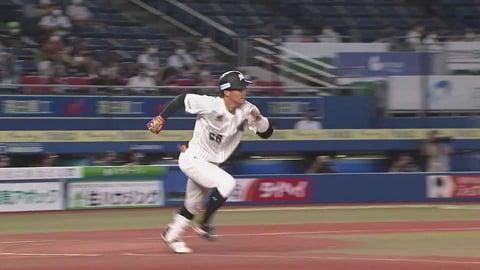【3回裏】移籍後初ヒット!! マリーンズ・加藤が右中間へ2ベースヒットを放つ!! 2021/8/19 M-L