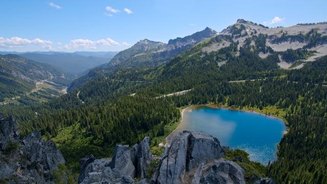 Amazing Mountain View, Mount Rainier National Park - Nature Relax Video