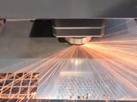 Titan Fibre Laser Flycut Test - T1 1Kw Steel & Aluminium - HD 1080p