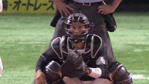 【1回裏】マリーンズ・加藤 正確なスローイングで盗塁阻止!! 2021/8/20 H-M