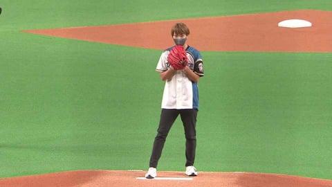 【始球式】陸上女子ハードル日本代表の寺田明日香選手が始球式!! 2021/8/21 F-E