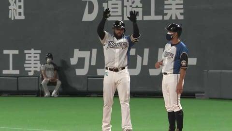 【7回裏】ファイターズ・R.ロドリゲス 一矢報いるセンター前タイムリーヒット!! 2021/8/21 F-E