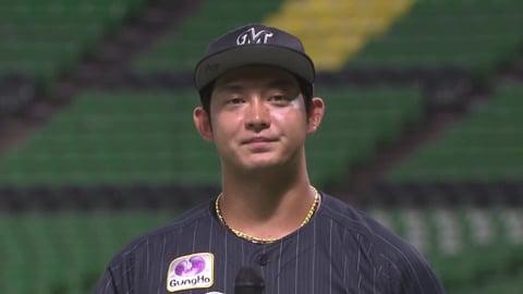 マリーンズ・佐藤選手ヒーローインタビュー 8/21 H-M