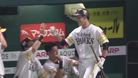 【4回裏】ホークス・栗原 同点のソロホームランを放つ!! 2021/8/22 H-M