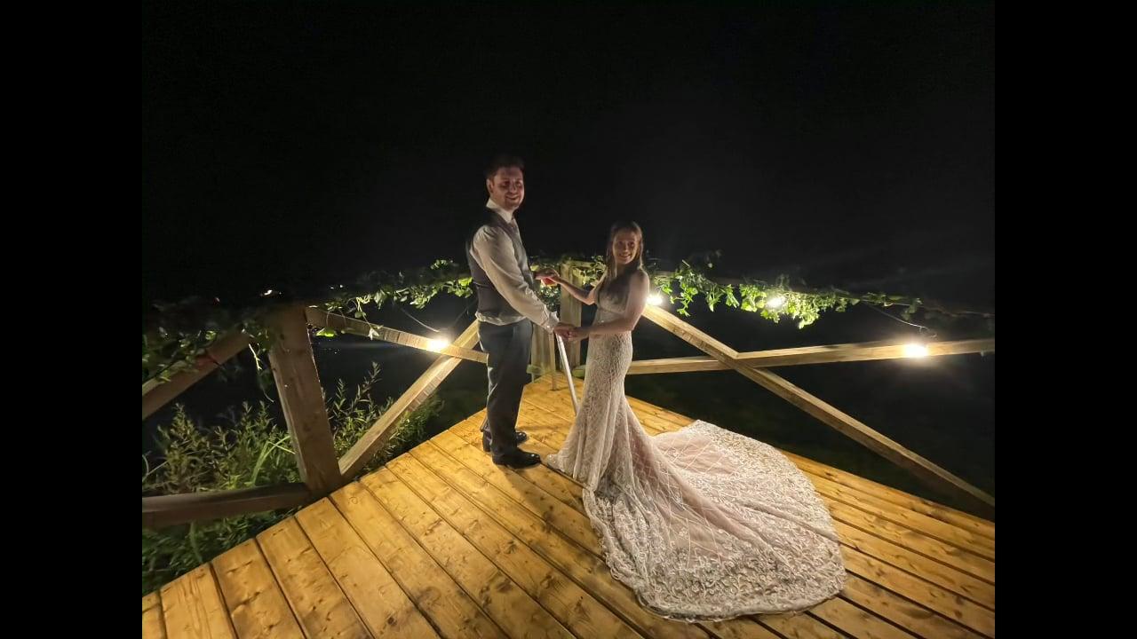 The Hidden Lake Wedding Fireworks
