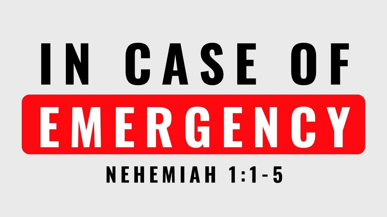 IN CASE OF EMERGENCY | PASTOR ABRAM THOMAS