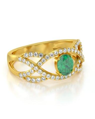 Video: Anelli Oro Smeraldo diamanti