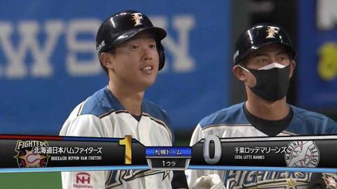 【1回裏】ファイターズ・高濱 先制のタイムリーヒットを放つ!! 2021/8/25 F-M