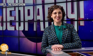 Mayim Biaylick is on Jeopardy!