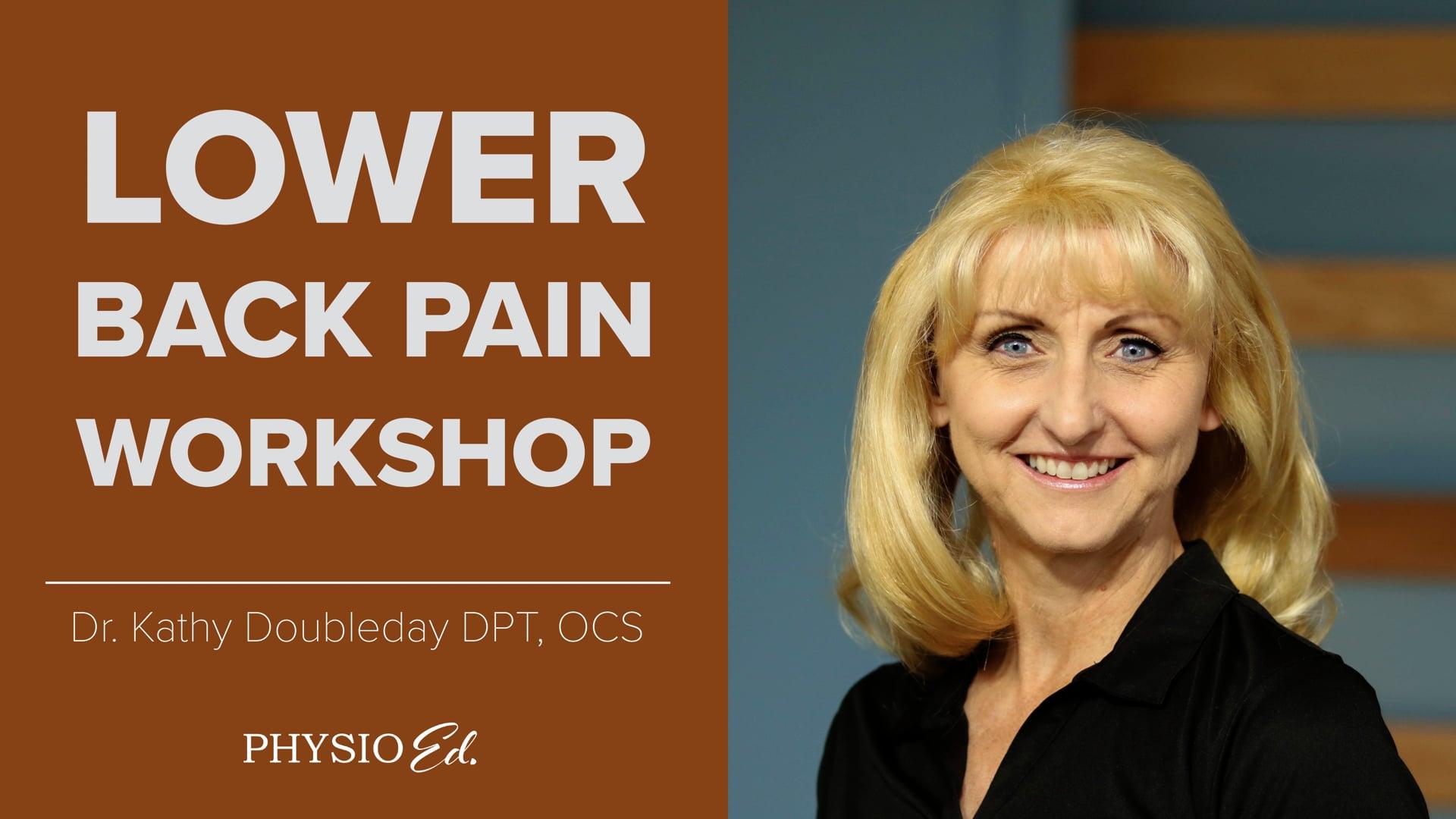 Lower Back Pain Workshop