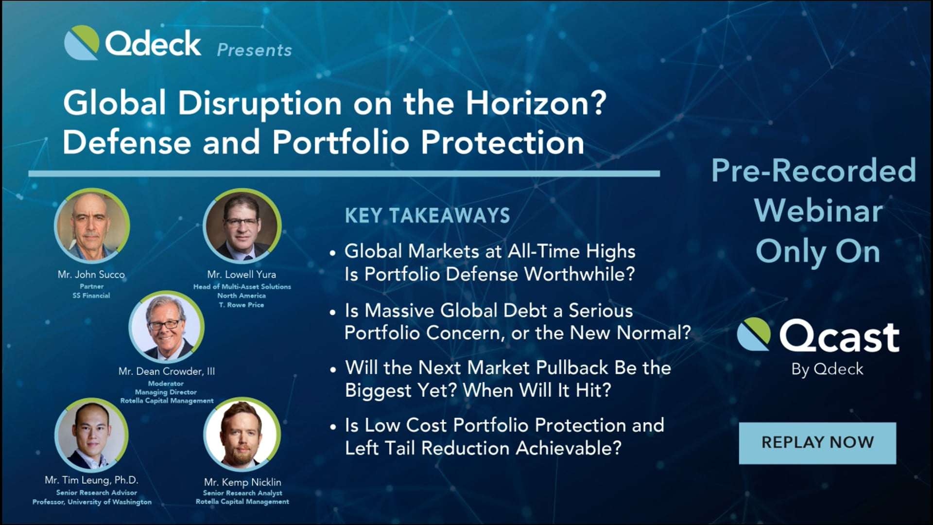 Global Disruption on the Horizon? Defense and Portfolio Protection