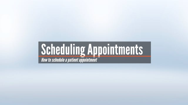Scheduling an Appointment