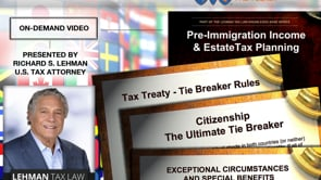 Pre Immigration Tax Planning - Avoiding Taxation On Accrued Wealth