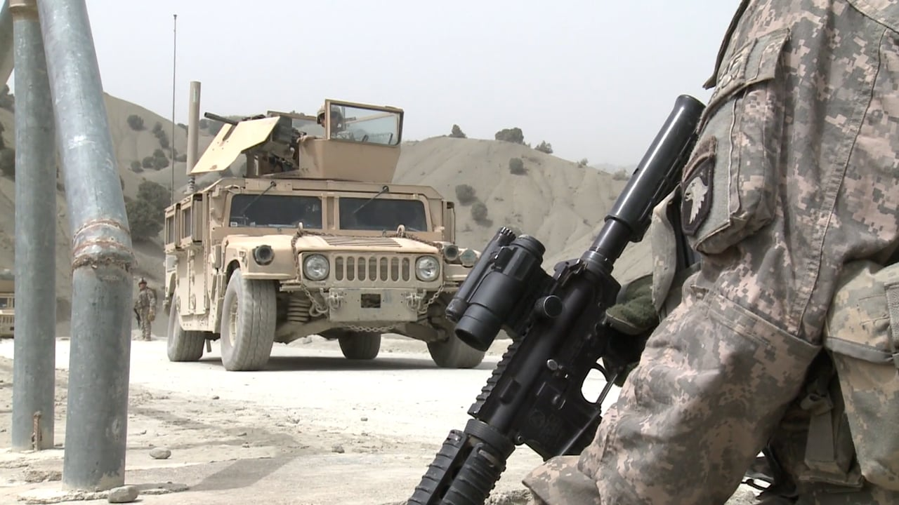 Firefight in Afghanistan's Kunar Province with the 101st Airborne in September 2008