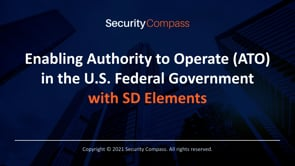 Enabling Authority to Operate (ATO) in the U.S. Federal Government with SD Elements