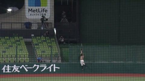 【4回裏】これぞ美技!! ファイターズ・淺間のジャンピングキャッチ!! 2021/8/28 L-F