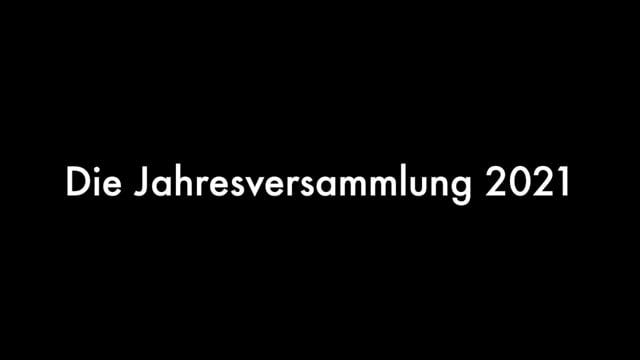 Jahresversammlung 2021