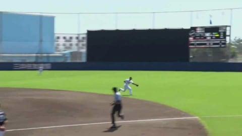 【ファーム】バファローズ・廣澤 ヒット性の打球をアウトにするファインプレー!! 2021/8/29 B-H(ファーム)
