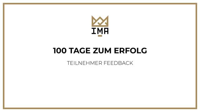 100 Tage zum Erfolg - Feedback