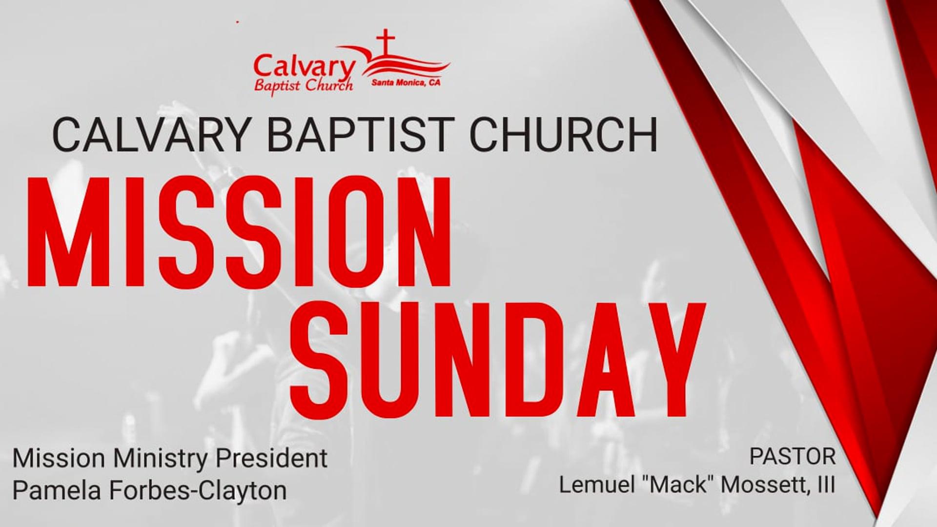 08.29.21 Calvary Baptist Church Worship Service