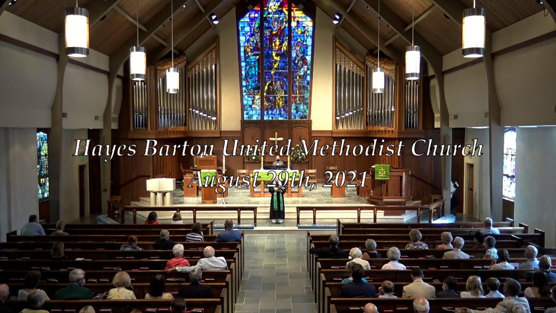 Sanctuary Worship - August 29, 2021