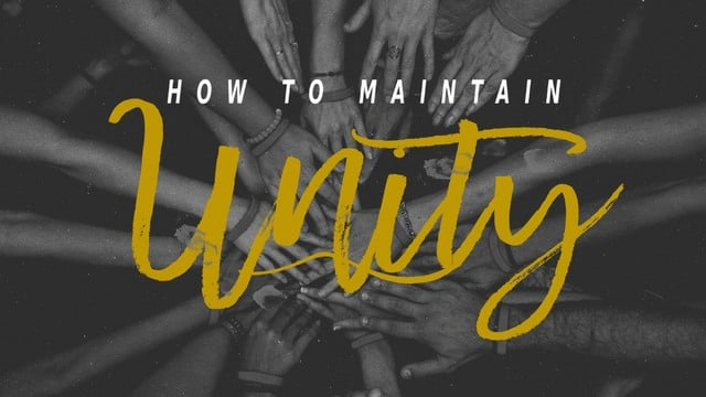 How to Maintain Unity | Daniel Rodriguez