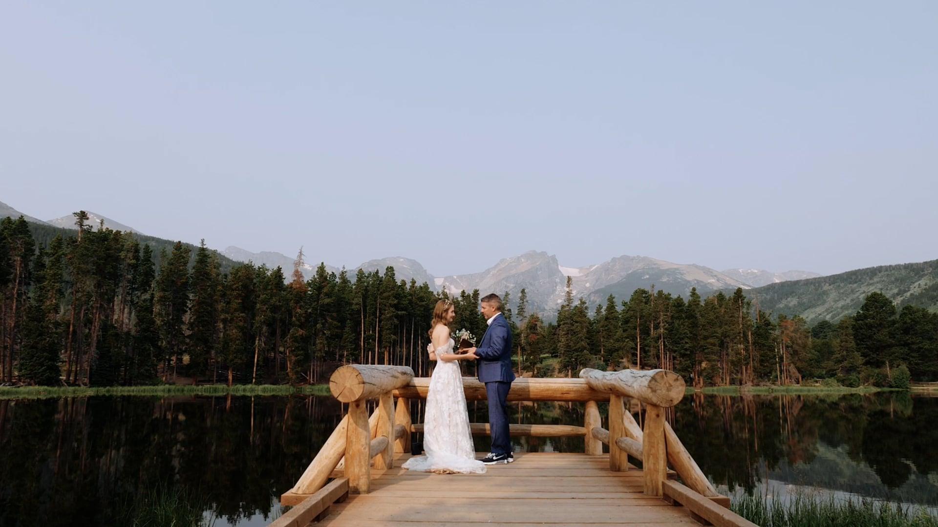 Sprague Lake Sunrise Elopement Ceremony - Lauren & Johan
