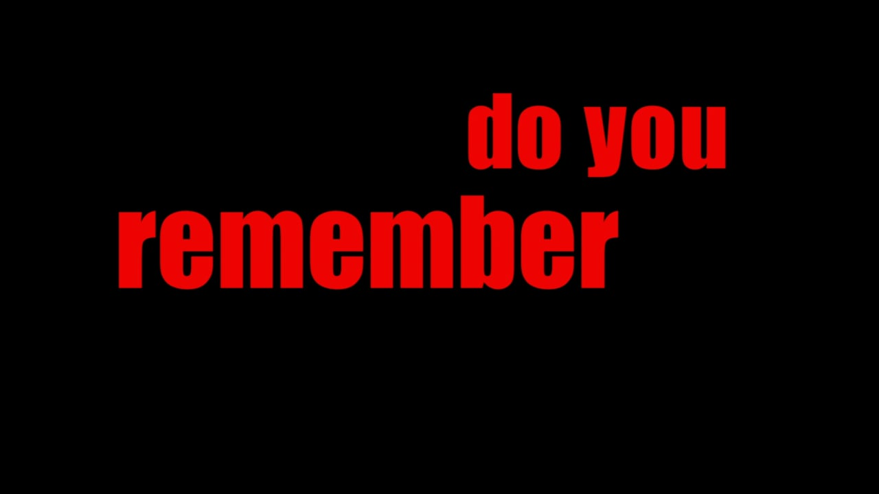 Do You Remember That Year?, a video by Piotr Cieplak