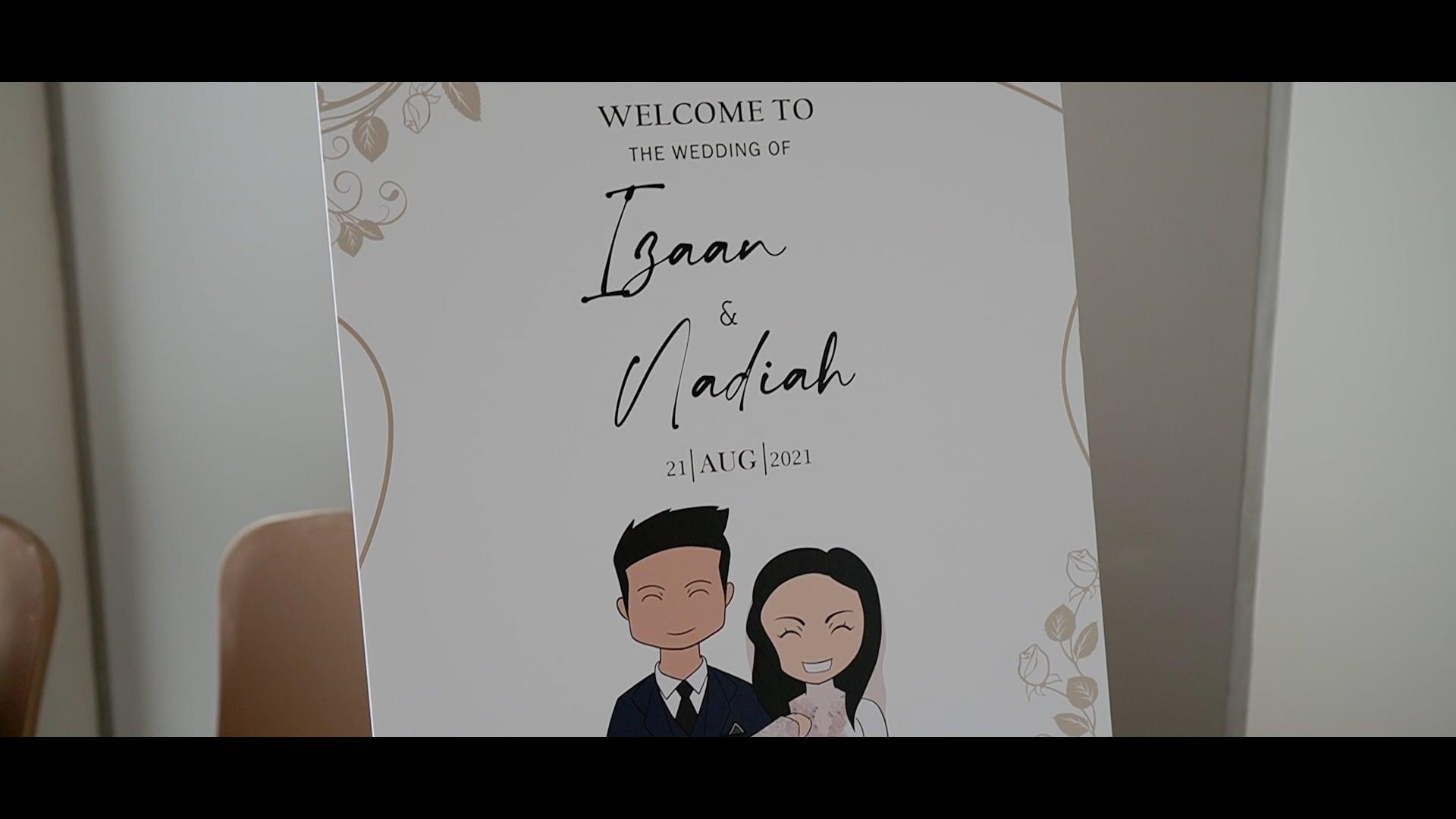 The wedding highlights of Izaan & Nadiah - 22nd August 2021 v2
