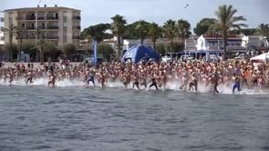 La travessa de natació obligada a canviar els recorreguts per l'onatge