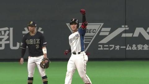 【5回裏】ファイターズ・野村 レフトへの勝ち越しタイムリー2ベースヒット!! 2021/8/31 F-B