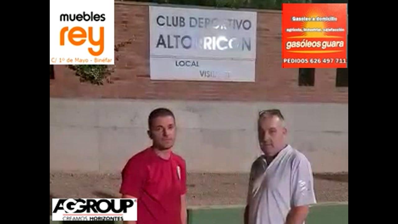 ROMÁN PANADERO (Nuevo entrenador del CD Altorricón) Con Iñaki Ramos, analizan la pretemporada y el próximo inicio de la competición