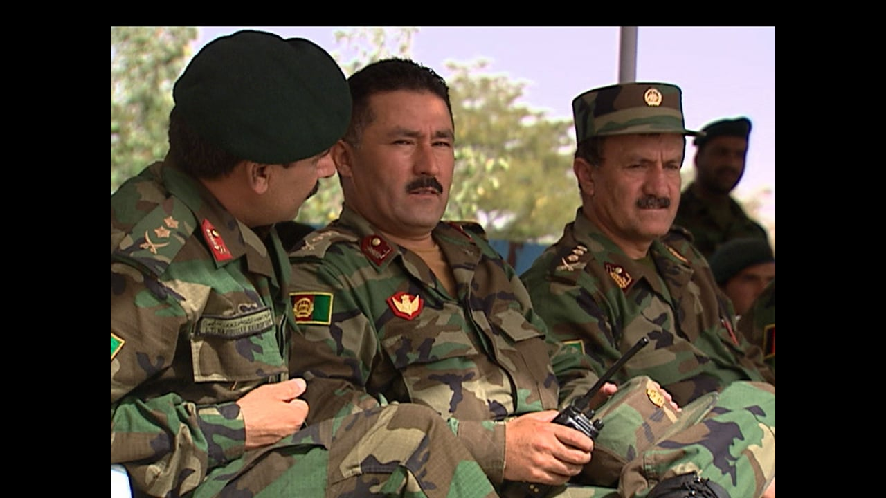Afghan National Army recruits at their  Graduation Ceremony at KMTC - August 2008